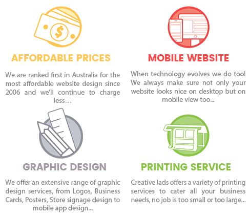 Creative lads logo design web design app design printing service what do we have to offer reheart Gallery